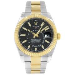 Rolex Sky-Dweller 326933 Bk Steel and 18 Karat Yellow Gold Automatic Men's Watch
