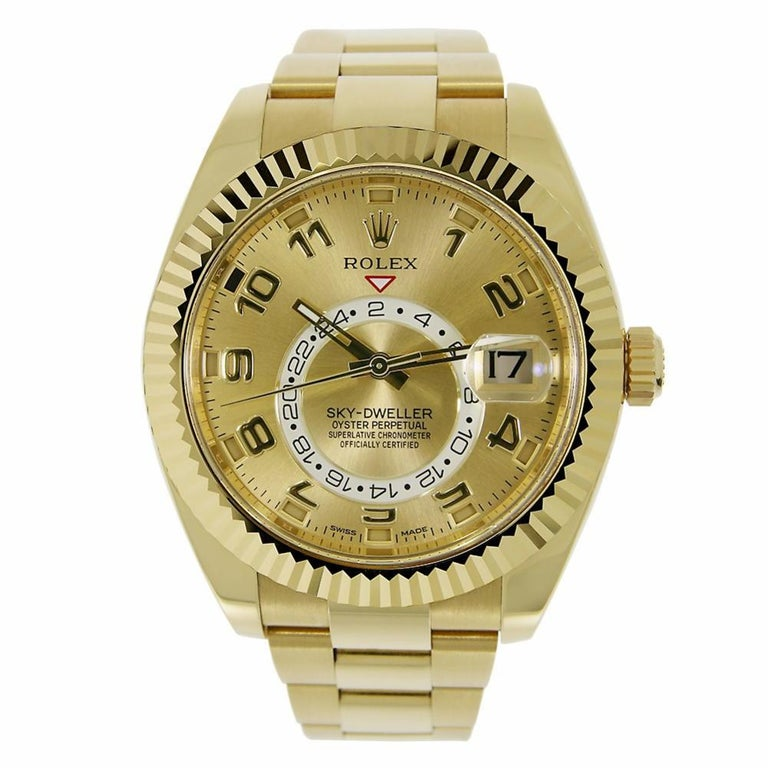 rolex sky dweller 18 karat yellow gold watch 326938 for. Black Bedroom Furniture Sets. Home Design Ideas