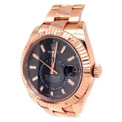 Rolex Sky-Dweller Dark Rhodium Dial Oyster Bezel Automatic Watch 326935