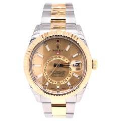Rolex Sky-Dweller Champagne Dial Steel Yellow Gold Automatic Men's Watch 326933