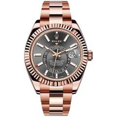 Rolex Sky Dweller Dark Rhodium Rose Gold Automatic Men's Watch 326935