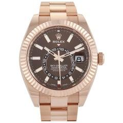 Rolex Sky-Dweller Everose Gold Chocolate Dial Watch 326935