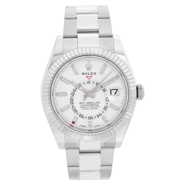 Rolex Sky-Dweller Stainless Steel White Dial 326934 For Sale
