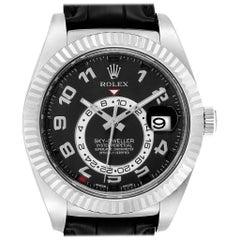 Rolex Sky-Dweller White Gold Black Dial Men's Watch 326139 Box Card