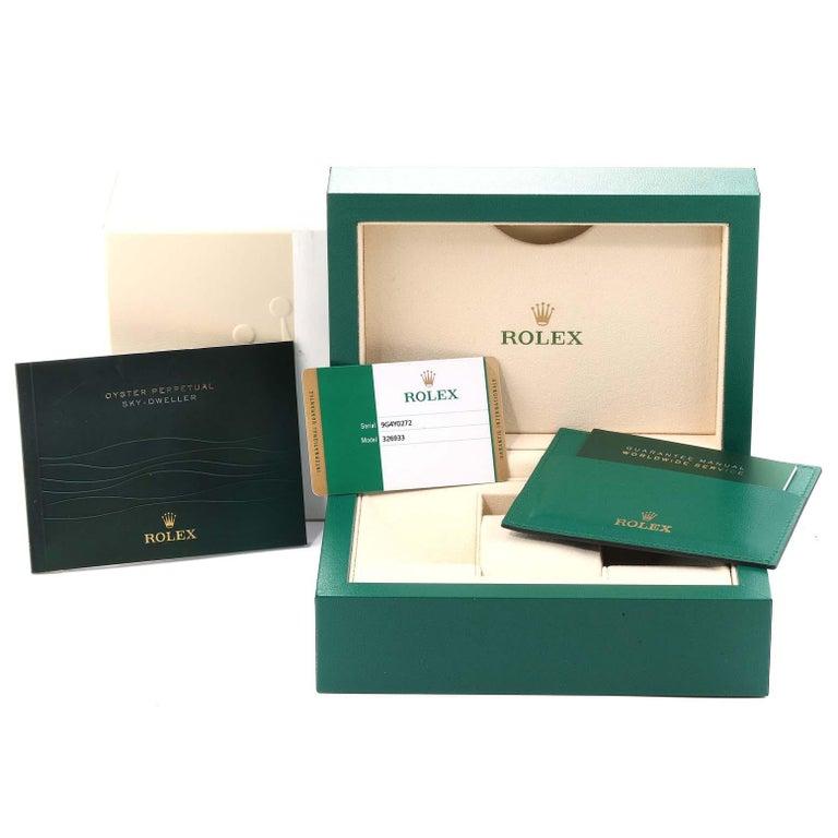 Rolex Sky Dweller Yellow Gold Steel White Dial Men's Watch 326933 Unworn For Sale 6