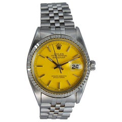 Rolex Stainless Oyster Perpetual Datejust with a Custom Dial from 1968 or 1969