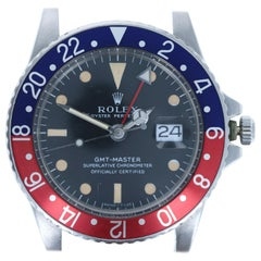 Rolex Stainless Pepsi 1675 Oyster Perpetual GMT-Master MK1 Long E Head Only