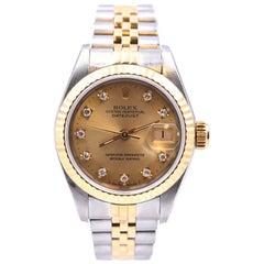 Rolex Stainless Steel/18 Karat Yellow Gold Ladies Datejust Watch Ref. 79173
