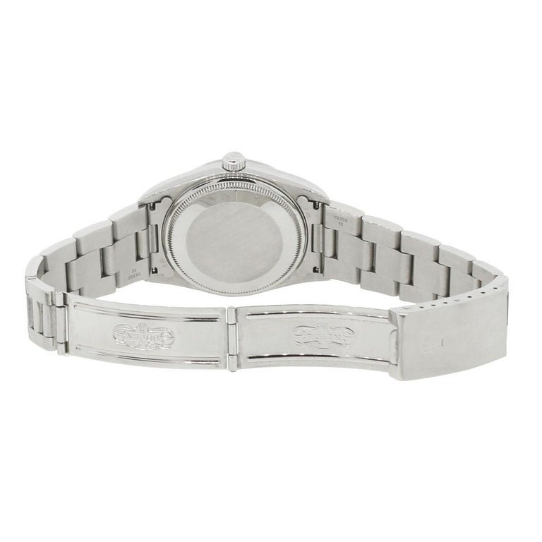 Women's or Men's Rolex Stainless steel Air King Automatic Wristwatch, Ref 14000 For Sale
