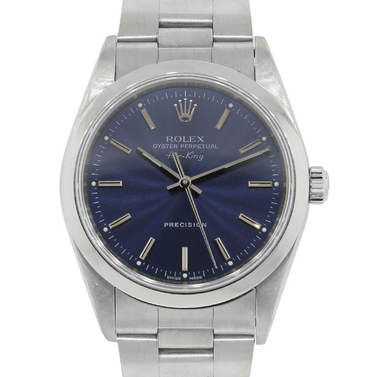 Rolex Stainless steel Air King Automatic Wristwatch, Ref 14000 For Sale