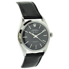 Rolex Stainless Steel Air King Ref. 5500 Glossy Black Dial from 1968-1969