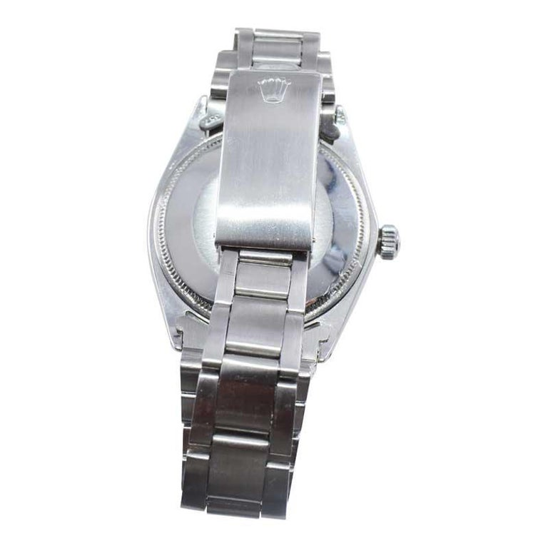 Rolex Stainless Steel Air King with Custom Mother of Pearl Diamond Dial, 1970's For Sale 2