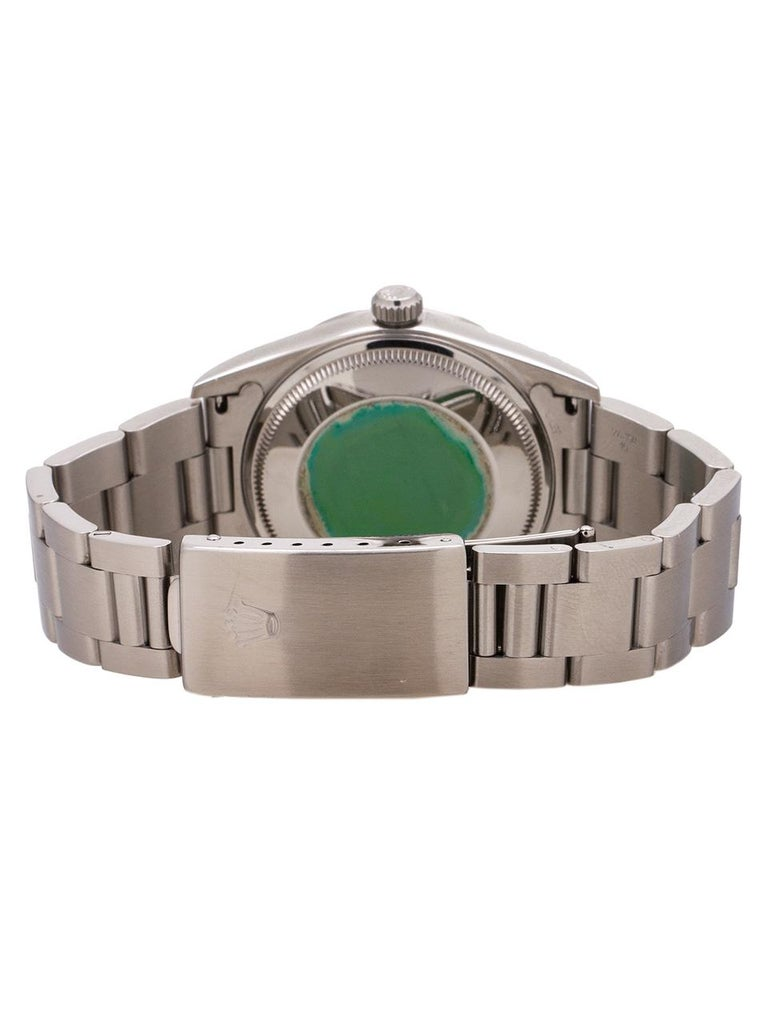 Men's Rolex Stainless Steel Airking Explorer Dial self winding wristwatch, c 1996 For Sale