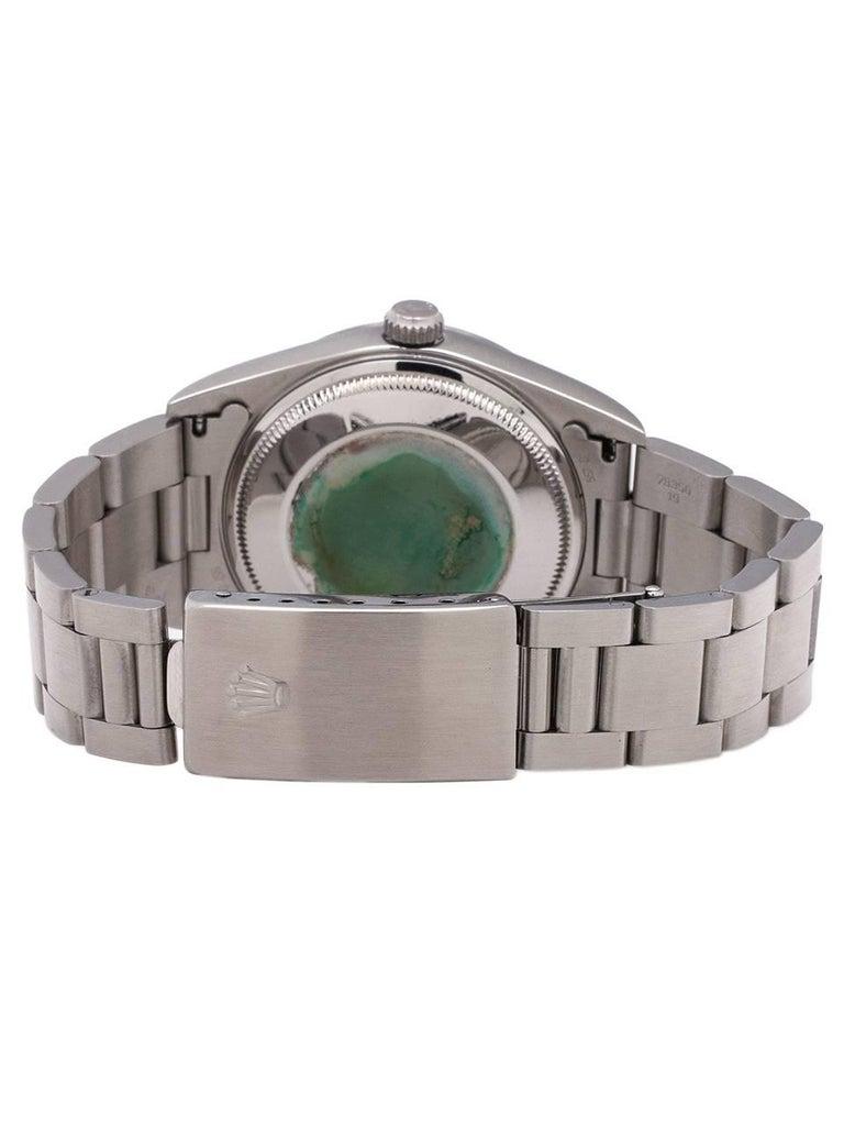 Men's Rolex Stainless Steel Airking self-winding wristwatch Ref 14000, c1995 For Sale