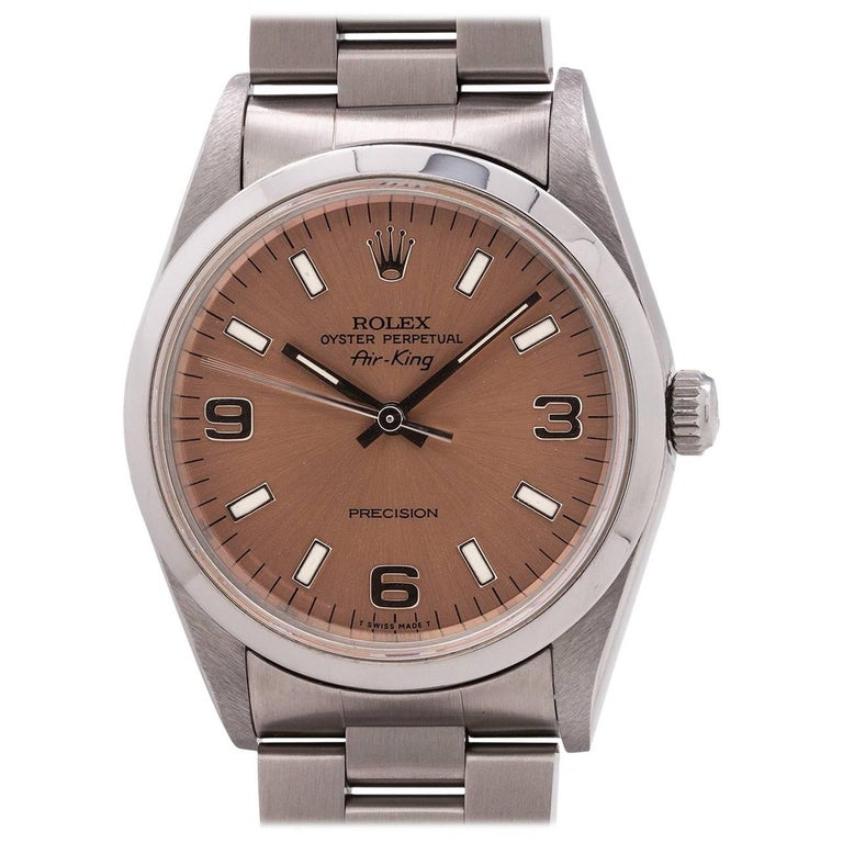 Rolex Stainless Steel Airking self-winding wristwatch Ref 14000, c1995 For Sale