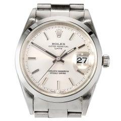Rolex Stainless Steel Date Just Plain Bezel Mens Wristwatch Ref 15200