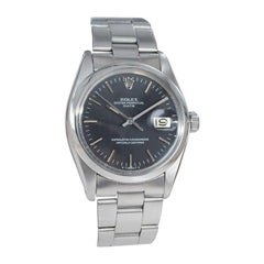 Rolex Stainless Steel Date Ref. 1500 Original Black Dial from 1981