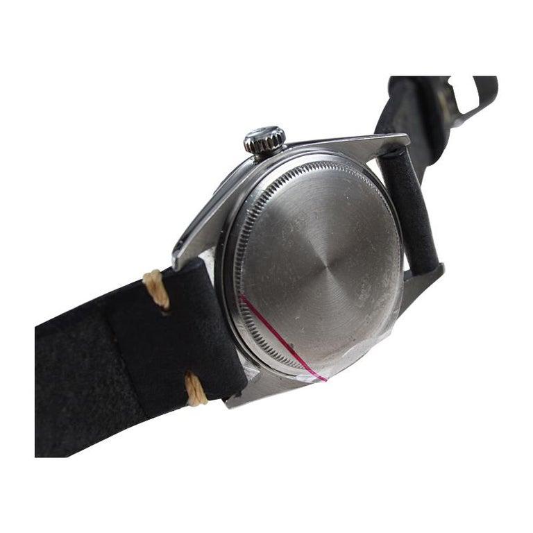 Rolex Stainless Steel Datejust Black Dial Jubilee Bracelet, Early 1970's For Sale 5