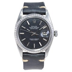 Rolex Stainless Steel Datejust Black Dial Jubilee Bracelet, Early 1970's