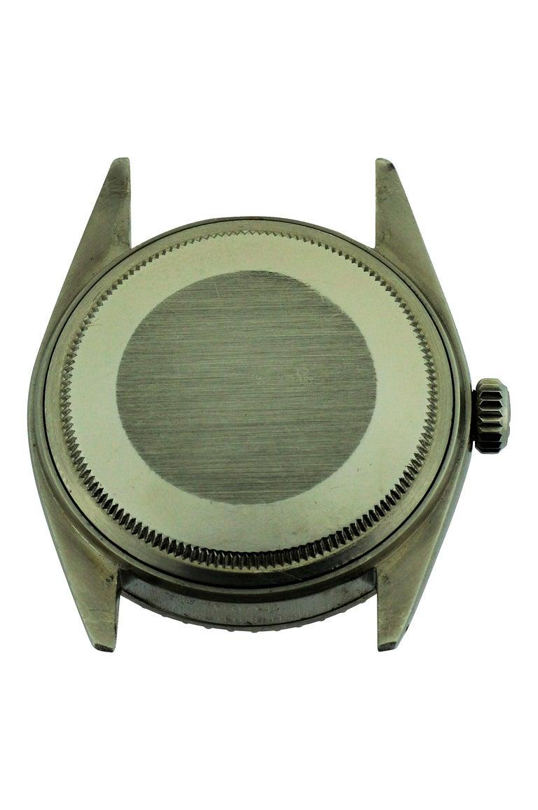 Women's or Men's Rolex Stainless Steel Datejust Custom Pink Diamond Dial Wristwatch