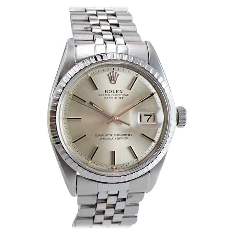 Rolex Stainless Steel Datejust Ref 1603 with Original Dial, circa 1970s