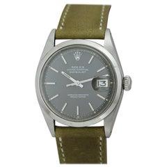Rolex Stainless Steel Datejust Smooth Bezel Ref 1600