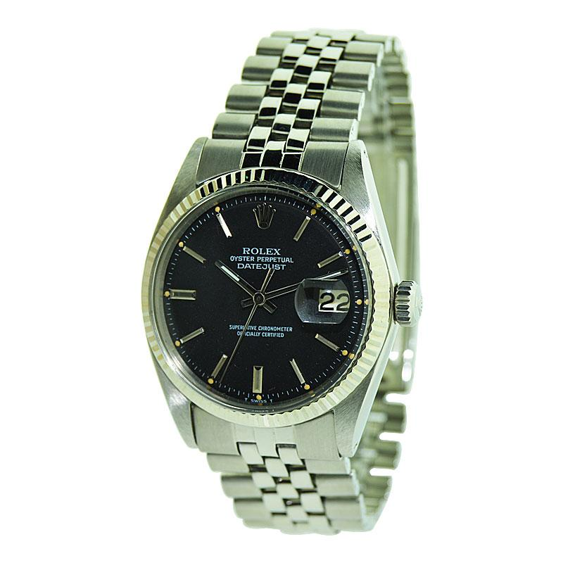 Rolex Stainless Steel Datejust with Original Bracelet and Dial , Early 1970's