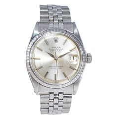 Rolex Stainless Steel Datejust with Original Dial and Dauphine Hands Mid 1960's