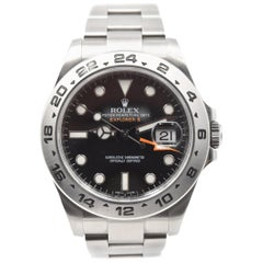 Rolex Stainless Steel Explorer II Black Dial automatic Wristwatch Ref 216570