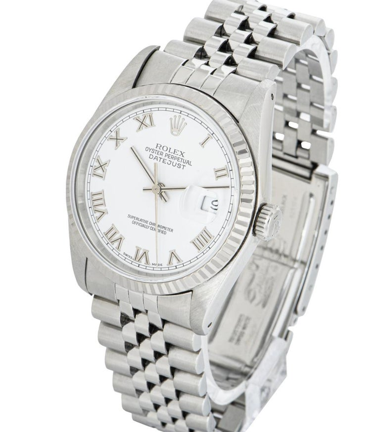 Rolex Stainless Steel Gents Datejust 16234 Watch In Excellent Condition For Sale In London, GB