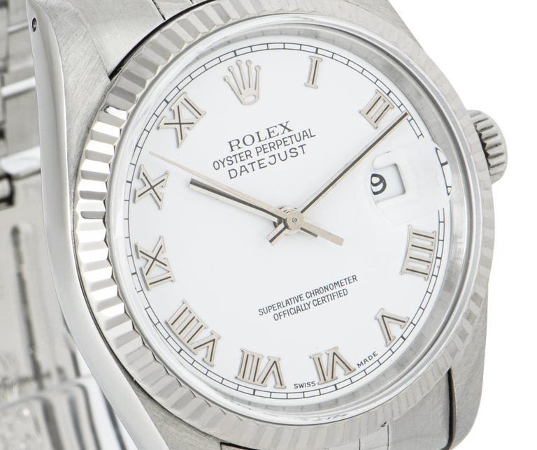 Men's Rolex Stainless Steel Gents Datejust 16234 Watch For Sale