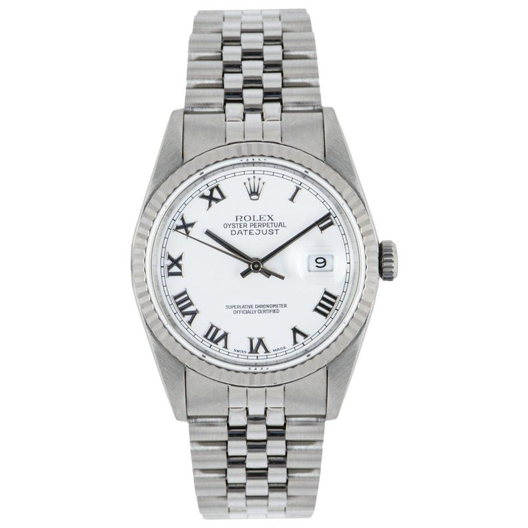 Rolex Stainless Steel Gents Datejust 16234 Watch For Sale