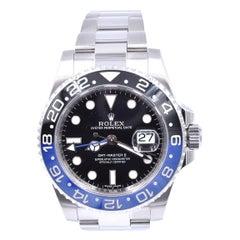 Rolex Stainless Steel GMT Master II Batman Watch Ref# 116710