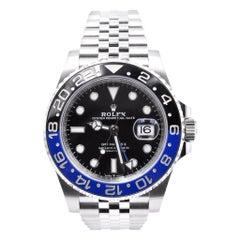 Rolex Stainless Steel GMT Master II Batman Watch Ref. 126710BLNR