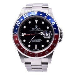 Rolex Stainless Steel GMT Master II Pepsi Watch Ref 16710