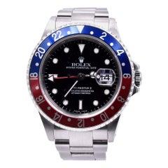 Rolex Stainless Steel GMT Master II Pepsi Watch Ref 16710