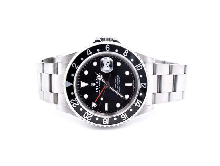 Rolex Stainless Steel GMT Master II Watch Ref. 16710 In Excellent Condition In Scottsdale, AZ