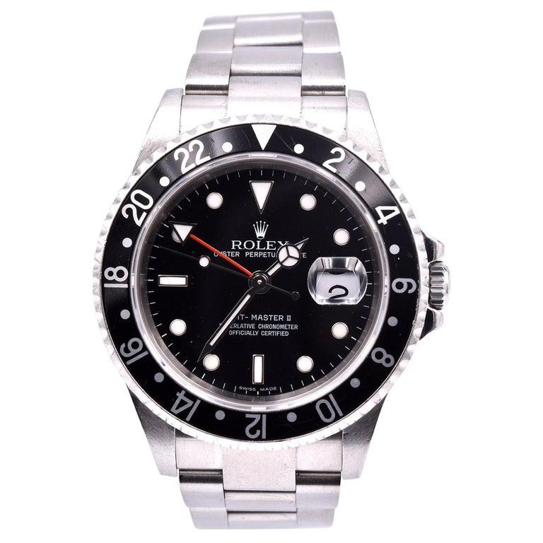 Rolex Stainless Steel GMT Master II Watch Ref. 16710