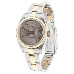 Rolex Stainless Steel Gold Oyster Perpetual Date Just