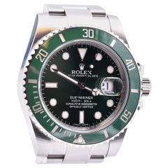 Rolex Stainless Steel Green Hulk Submariner Watch Ref. 116610LV