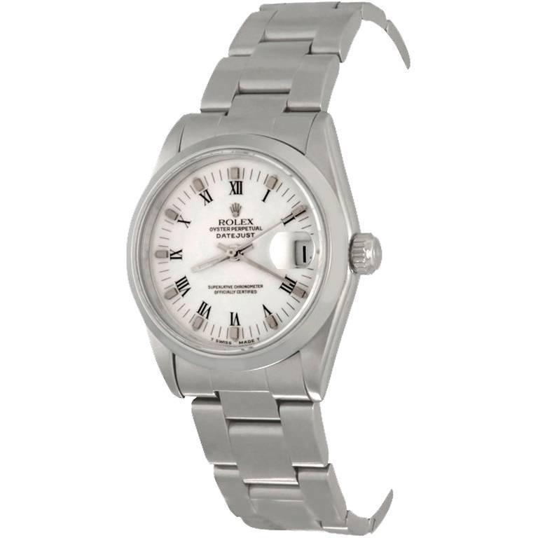 Rolex Stainless Steel Datejust Oyster Bracelet Automatic Wristwatch Ref 68240
