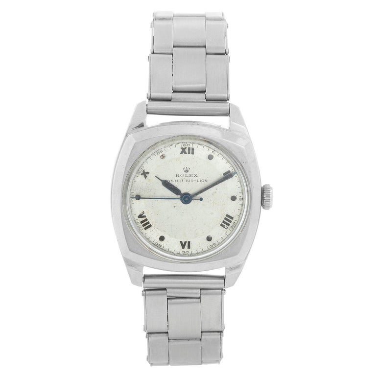 Rolex Stainless Steel Oyster Air-Lion Men's Watch Ref 4647 For Sale