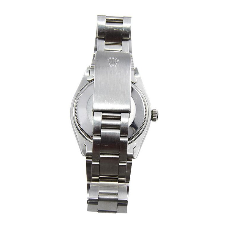 Rolex Stainless Steel Oyster Perpetual Air King Original Black Dial with Papers For Sale 4