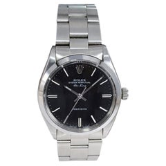 Rolex Stainless Steel Oyster Perpetual Air King Original Black Dial with Papers