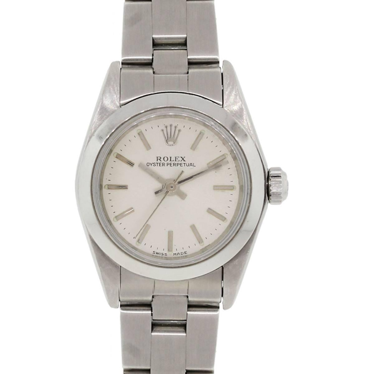 Rolex Stainless steel Oyster Perpetual Automatic Wristwatch Ref 76080