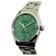 Rolex Stainless Steel Oyster Perpetual Custom Dial Wristwatch, circa 1970s