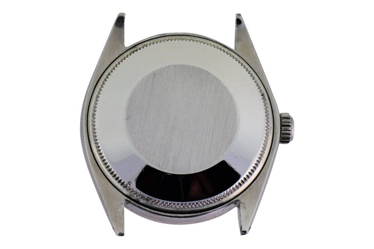 Rolex Stainless Steel Oyster Perpetual Date Custom Dial, circa 1970s In Excellent Condition For Sale In Long Beach, CA