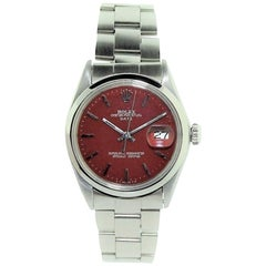 Rolex Stainless Steel Oyster Perpetual Date Custom Dial, Early 1970's