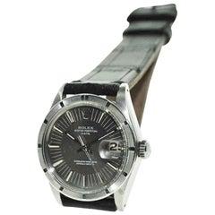 Rolex Stainless Steel Oyster Perpetual Date Thunderbird Bezel Watch, circa 1972