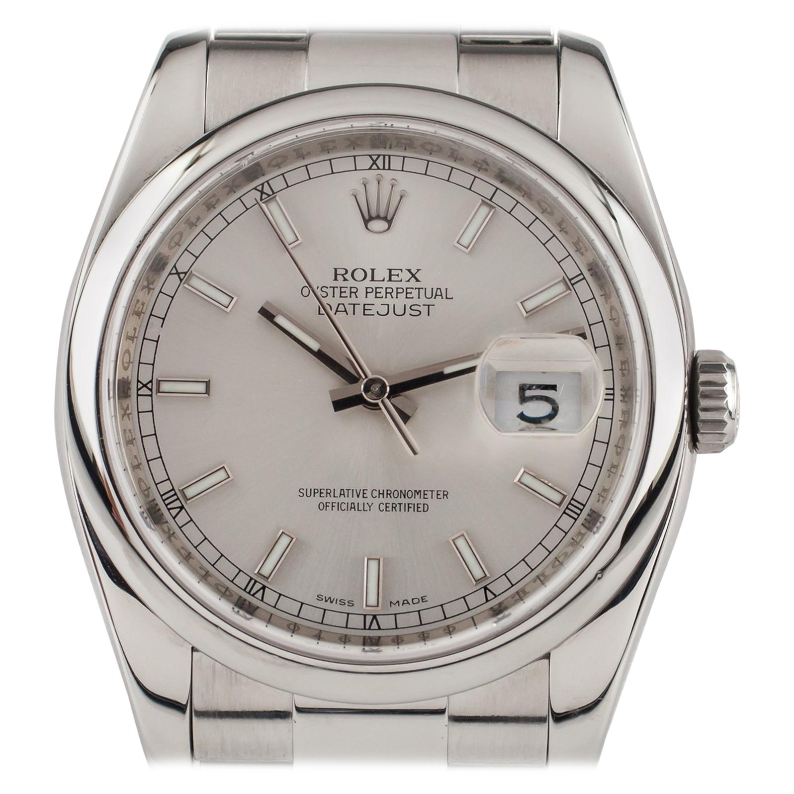 Rolex Stainless Steel Oyster Perpetual Datejust 116200 Men's Automatic Watch